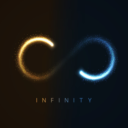 infinity symbol: illustration of infinity sign from glittering stras