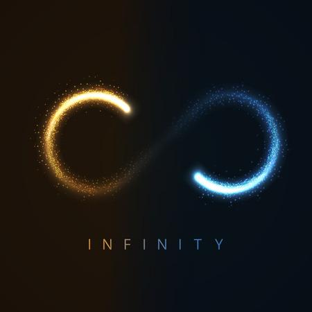 simbolo infinito: ilustraci�n de s�mbolo de infinito de stras brillantes