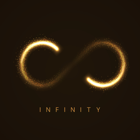illustration of infinity sign from glittering stras