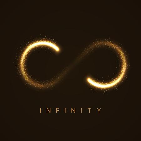 infinito simbolo: illustrazione del segno dell'infinito da stras scintillanti