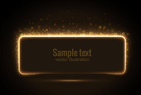 illustratie van gloeiende bannerfrom glinsterende stras eps 10