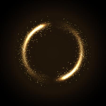 schwarz: Illustration der glühenden Staub aus glitzernde stras