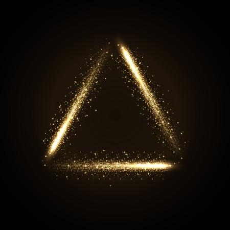 illustratie van gloeiende driehoek van glinsterende stras