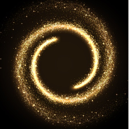 bling bling: illustration of glowing dust from glittering stras