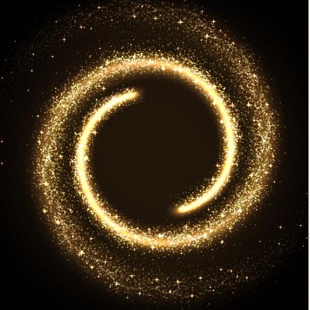oro: Ilustración de polvo brillante de stras brillantes Vectores