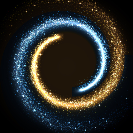 illustration of glowing dust from glittering stras
