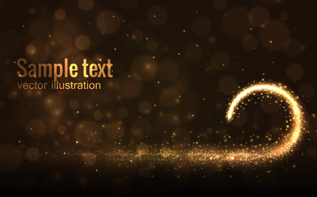 bling bling: Illustration of vector  sparks isolated on dark background with place for text