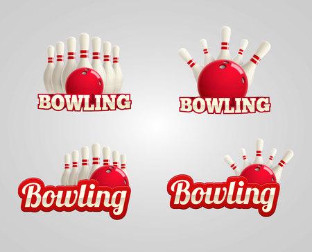 skittles: Illustration of bowling realistic theme eps 10 Illustration