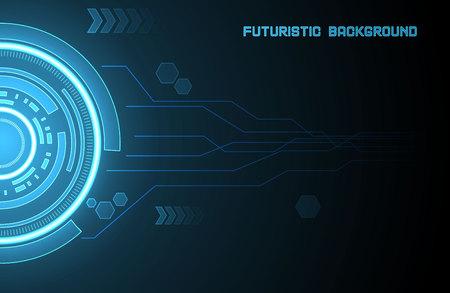 techno: Illustration of futuristic glowing element Illustration