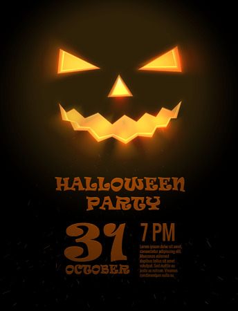 party background: Illustration of HALLOWEEN PARTY design concept