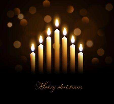 velas de navidad: Ilustración de velas de Navidad feliz