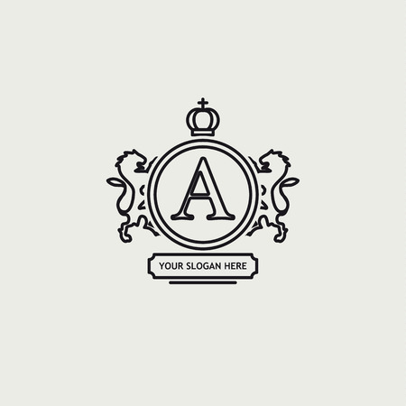 hoof: Illustration of Heraldic sign black line design