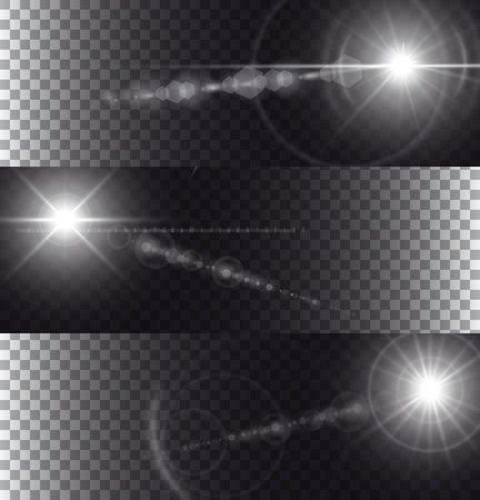 flare: Illustration of flare lights isolated on transparency background