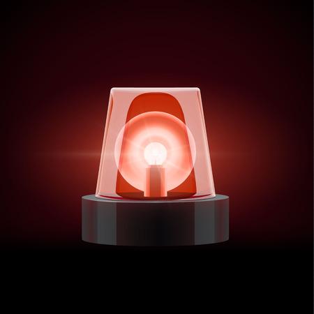luz roja: Ilustración de rojo de objetos 3d sirena