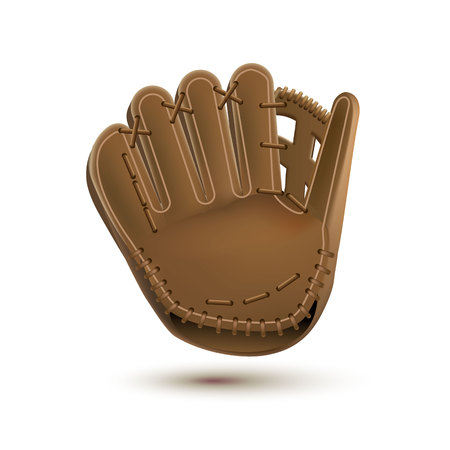 baseball glove isolated on white realistic objects eps 10  イラスト・ベクター素材