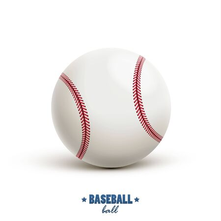 inning: illustration of baseball vector realistic object isolated on white Illustration