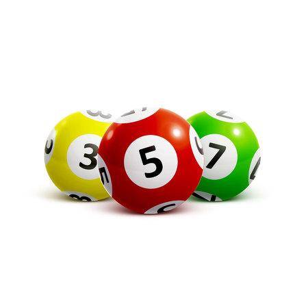 Illustrazione della sfera numeri della lotteria 3d Archivio Fotografico - 67293184