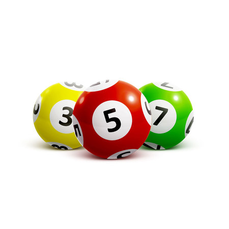 illustration of ball lottery numbers 3d Illustration