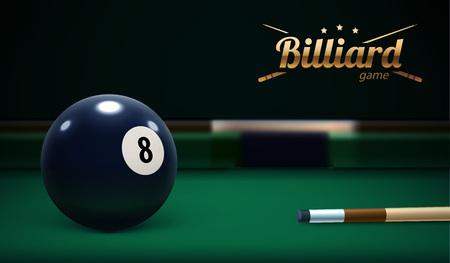 Table de billard Vue de face Ball Sport Theme Illustration