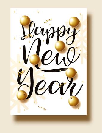 新年あけましておめでとうございます 2018 ゴールドと黒の色をテキストの配置クリス  イラスト・ベクター素材