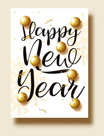 happy new year 2018 gold and black colors place for text chris Çizim