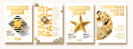 happy new year 2018 gold and black colors place for text chris Illustration