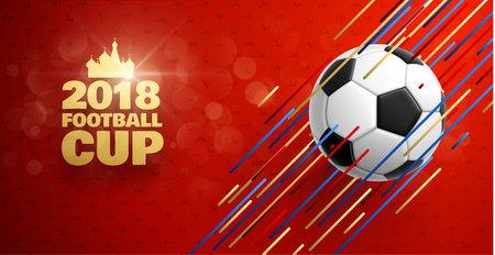 Football 2018 world championship cup background soccer Illustration