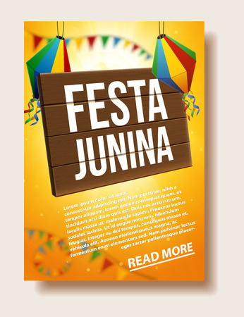 Festa junina background holiday place for text