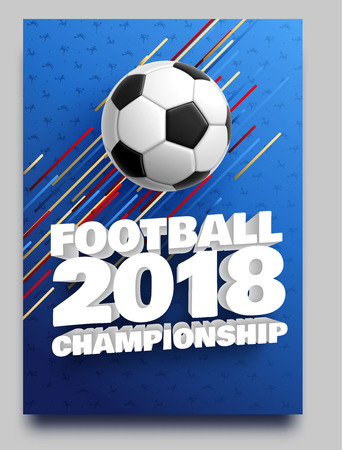 football 2018 world championship cup background soccer Imagens - 101083193