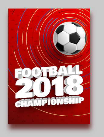 football 2018 world championship cup background soccer Imagens