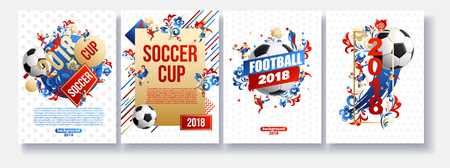 Football background place for text 2018 icons lines flowers Imagens - 101090378