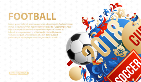 football background place for text 2018 icons    lines flowers Vettoriali