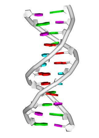 rendering of a DNA double helix molecule Фото со стока