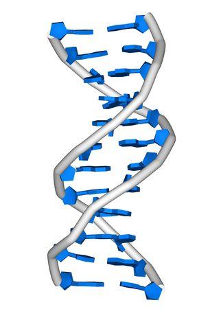 rendering of a DNA double helix molecule Reklamní fotografie - 319175