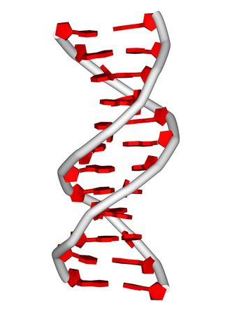 computational: rendering of a DNA double helix molecule Stock Photo