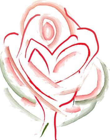 Vector based rose