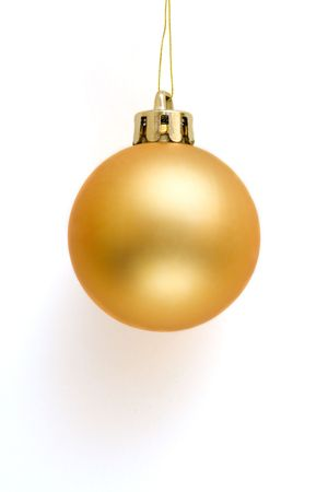 Golden Christmas Ball Stock Photo - 1895846