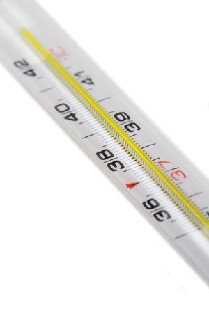 celcius: Celcius thermometer. Shallow DOF Stock Photo