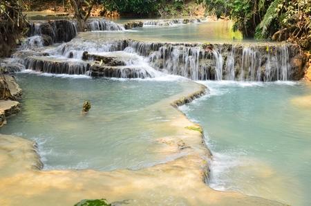 beautifull: beautifull waterfall in loas Stock Photo
