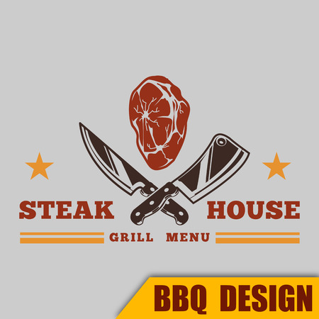 BBQ Grill Steak House Vector Image
