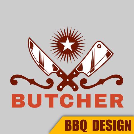 BBQ Butcher Vector Image Ilustracja