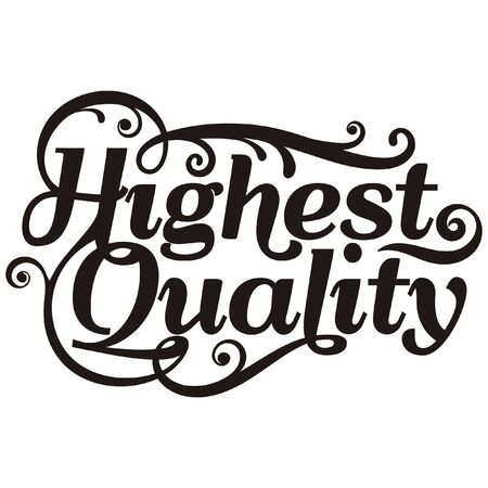 Hand drawn lettering of highest quality.