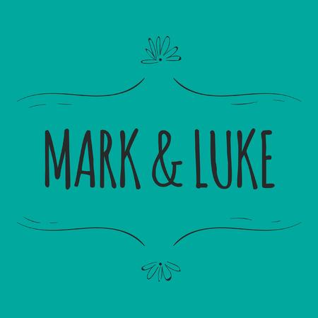 Wedding Mark & Luke Vector Image