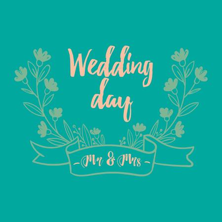 Wedding card template design. Ilustração