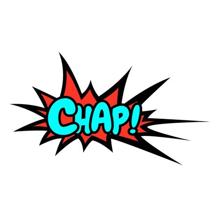 Word Text Pink Chap Vector Image