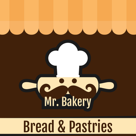 Mr. Bakery Bread & Pastries Background Vector