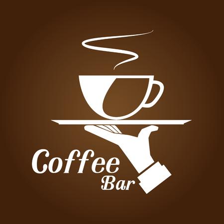 Coffee Bar Brown Background