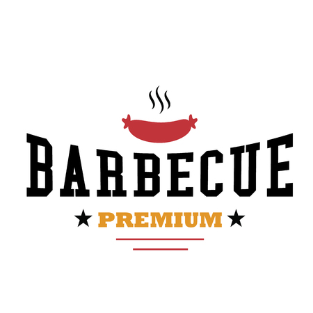 BBQ Barbecue Premium Vector Image