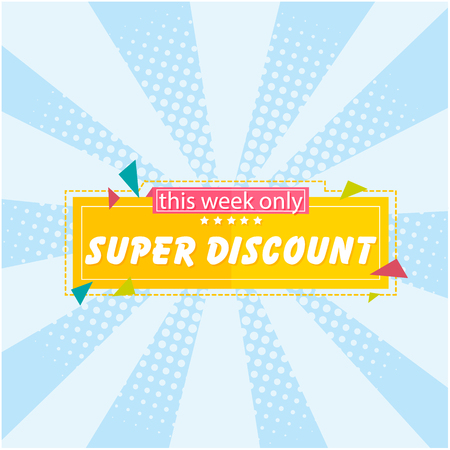 Banner Super Discount This Week Only Vector Image
