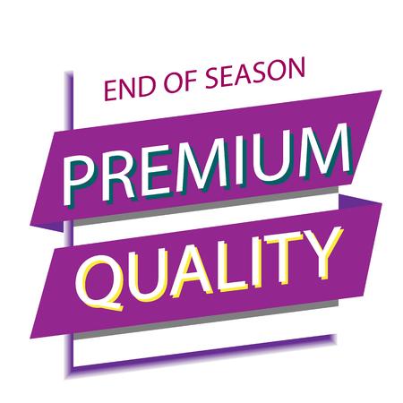 Banner End Of Season Premium Quality Vector Image Archivio Fotografico - 95537727